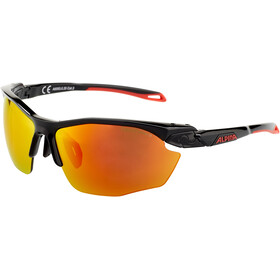 Alpina Twist Five HR CM+ Okulary rowerowe, black matt-red